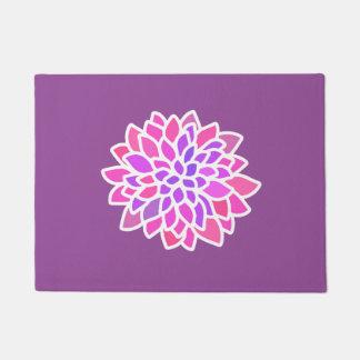 Tapete flor retro moderna roxa cor-de-rosa
