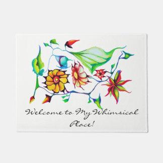 Tapete Flores coloridos da aguarela do art deco exótico