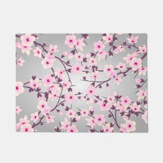 Tapete Flores de cerejeira cinzentas cor-de-rosa florais