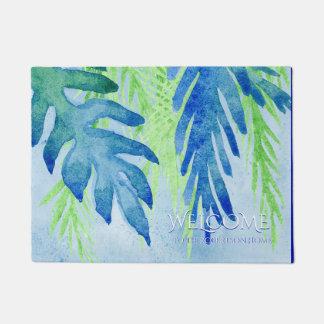 Tapete Folhas tropicais modernas bem-vindas da folha do