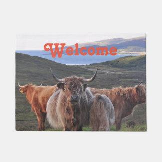 Tapete Foto peludo da paisagem da bezerra da vaca do