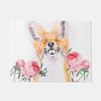 Tapete Foxy feliz e rosas