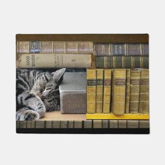 Tapete Gato do livro da biblioteca do sono