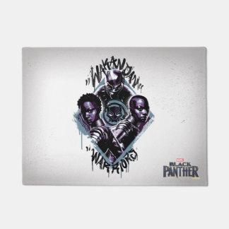 Tapete Grafites dos guerreiros da pantera preta |