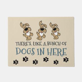 """Tapete Grupo dos cães em aqui 18"""" x 24"""" esteira de porta"""