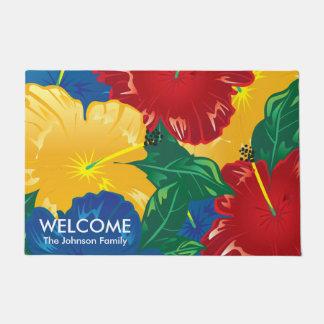 Tapete Hibiscus tropical exótico