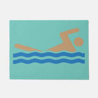 Tapete Ícone da natação na cor