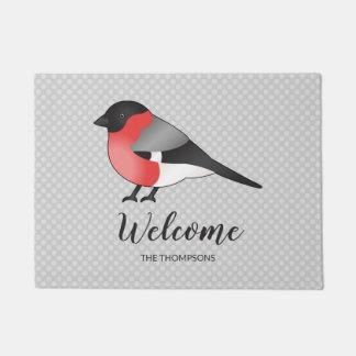 Tapete Ilustração bonito do pássaro & boa vinda do nome
