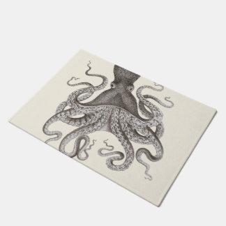 Tapete Ilustração cinzenta do polvo do vintage