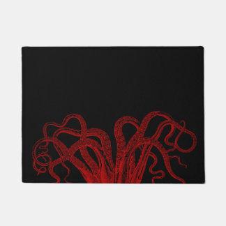 Tapete Ilustração vermelha dos tentáculos do polvo do