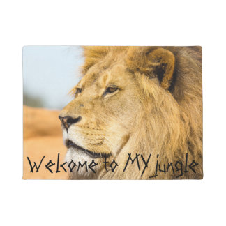 Tapete Leão grande que olha longe