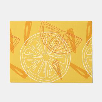Tapete Limões amarelos brilhantes teste padrão tirado do