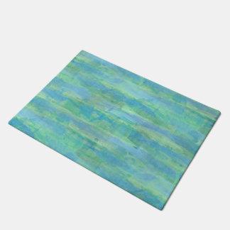 Tapete Listras da aguarela do azul de turquesa do Aqua do