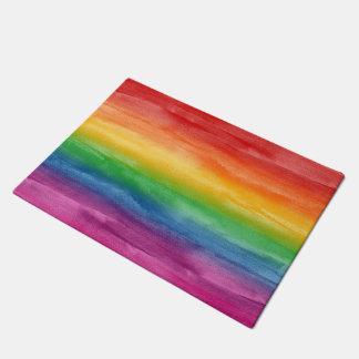 Tapete Listras do arco-íris da aguarela