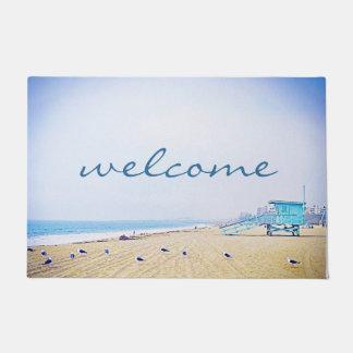 "Tapete Luz da ""boa vinda"" - foto da praia da areia do céu"