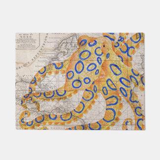 Tapete Mapa azul do polvo do anel