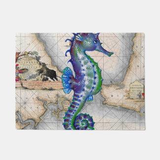 Tapete Mapa Gibraltar do cavalo marinho