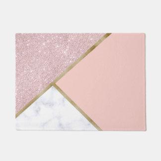 Tapete Mármore cor-de-rosa geométrico elegante do branco