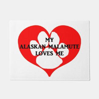 Tapete meu malamute do Alasca ama-me