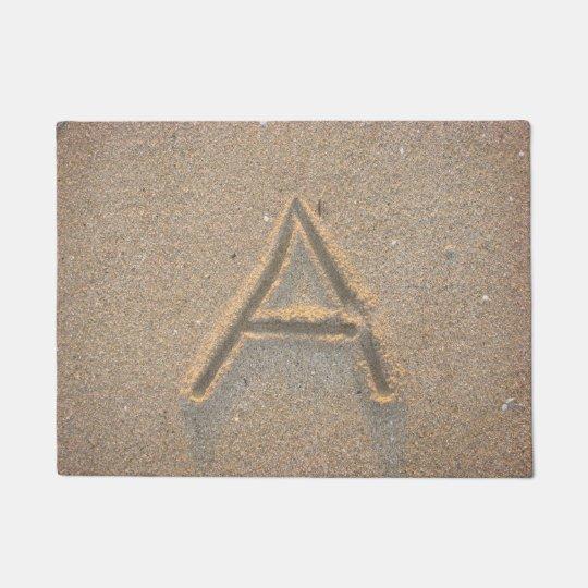 Tapete Monograma A da areia da praia