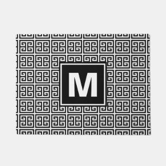 Tapete Monograma preto e branco na moda do teste padrão