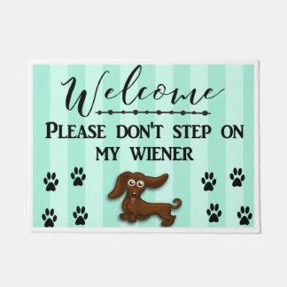 Tapete Não pise em meu cão do Wiener, Daschund