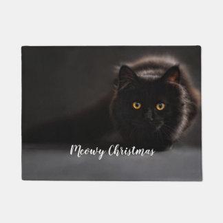 Tapete Natal de Meowy, esteira de porta da foto do gato