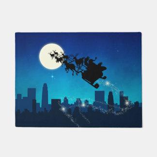 Tapete Natal do trenó de Papai Noel - Doormat