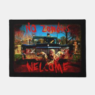 Tapete Nenhuma esteira de porta bem-vinda dos zombis