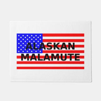 Tapete nome do malamute do Alasca na bandeira