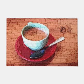 Tapete Nuvem da palavra do copo e da colher do café