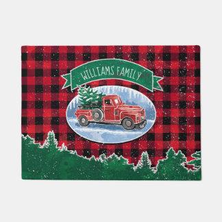 Tapete O caminhão do vintage do Feliz Natal adiciona o