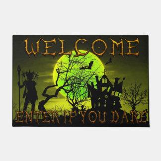 Tapete O Dia das Bruxas assombrou a boa vinda da casa