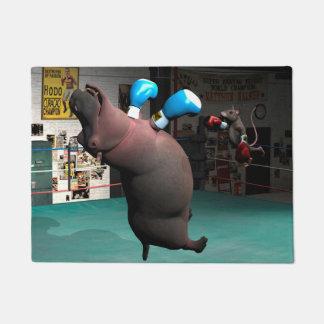 Tapete O rato bate o hipopótamo KO