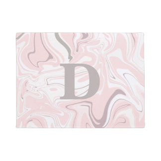 Tapete Olhar de mármore cor-de-rosa e branco minimalista