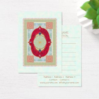 Tapete oriental - cartão de visita