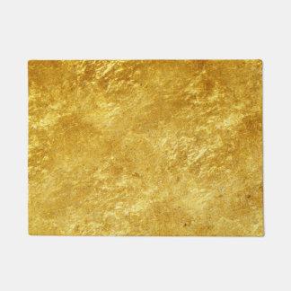 Tapete Ouro e teste padrão de mármore chapeado amarelo
