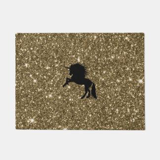 Tapete ouro sparkling do unicórnio