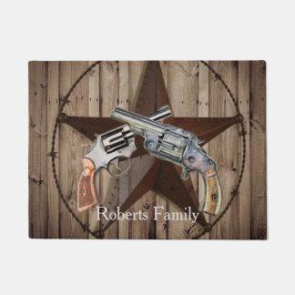Tapete país ocidental das pistolas rústicas do vaqueiro