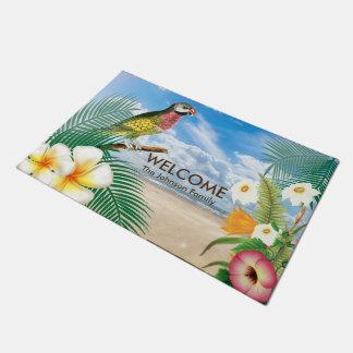 Tapete Pássaro tropical do Parakeet da praia