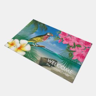 Tapete Pássaros tropicais do Parakeet na praia
