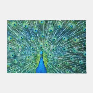 Tapete Penas verdes do pavão do Aqua