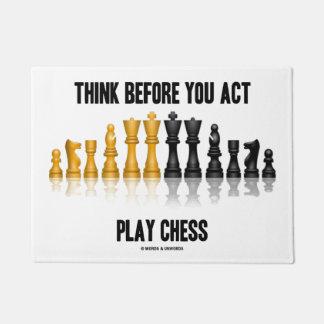 Tapete Pense antes que você xadrez reflexiva da xadrez do