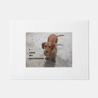 Tapete PIC completo vermelho de w do amor do dachshund