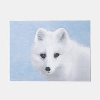 Tapete Pintura do Fox ártico - arte original dos animais