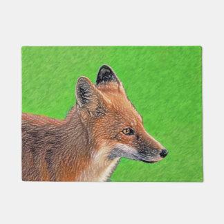 Tapete Pintura do Fox vermelho - arte original dos