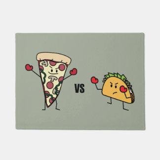 Tapete Pizza de Pepperoni CONTRA o Taco: Mexicano contra