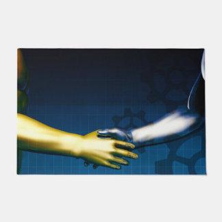 Tapete Rede da integração do negócio com as mãos que