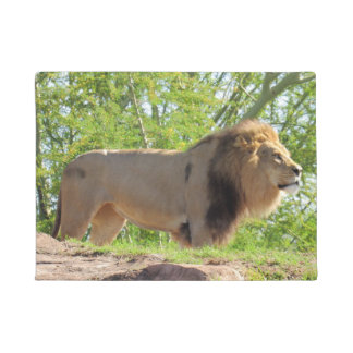 Tapete Rei da esteira de porta da selva (leão)