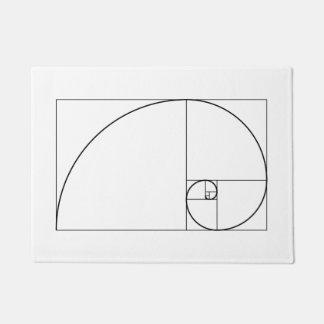 Tapete Relação dourada espiral de Fibonacci
